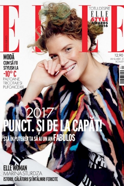 Ioni Guraliuc cover ELLE Romania January 2017