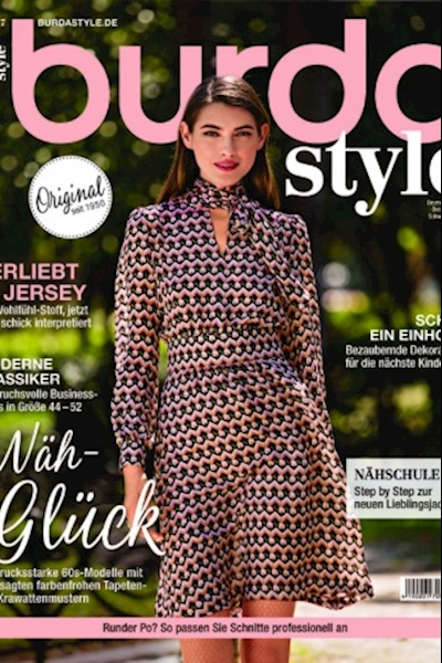 Simona Bitiusca cover and editorial Burda Germany August 2017
