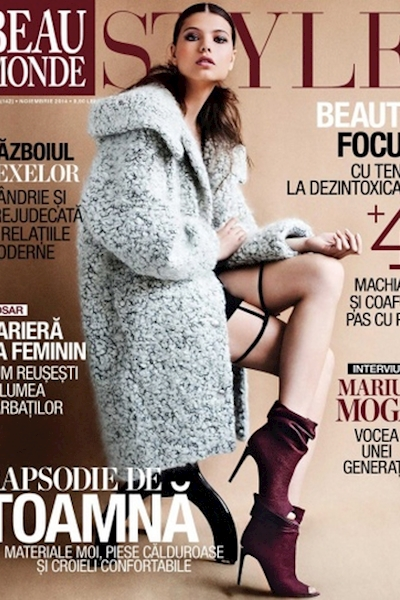 Alexandra Timofte cover and editorial B Monde November 2014